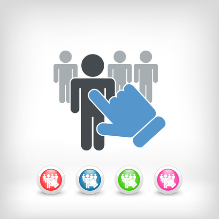 People selection icon Vector