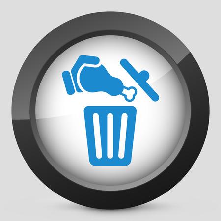 Food trash icon Stock Vector - 27151284