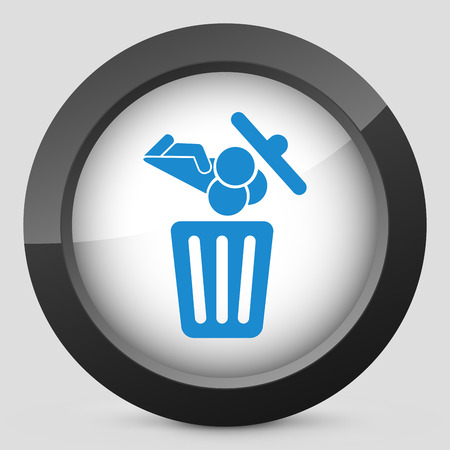 Food trash icon Stock Vector - 27151312