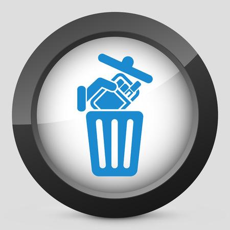 trashing: Trashing cigarettes
