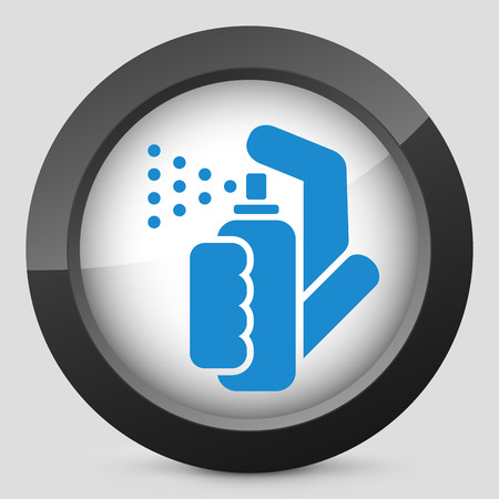 pressure bottle: Spray icon Illustration