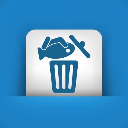 Food trash icon Stock Vector - 27151406