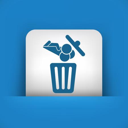 Food trash icon Stock Vector - 27151407