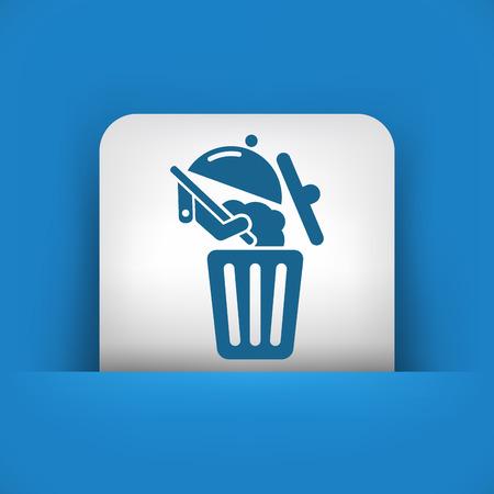Food trash icon Stock Vector - 27151408