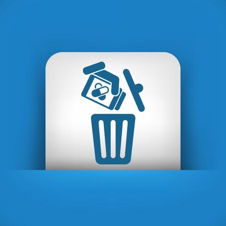 wastebasket: Medical trash bin Illustration
