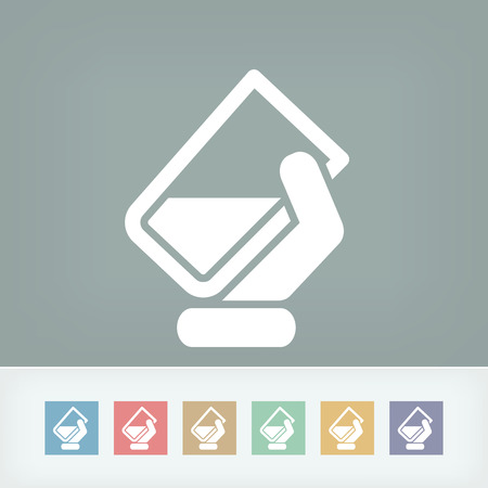 moisturizing: Water glass icon