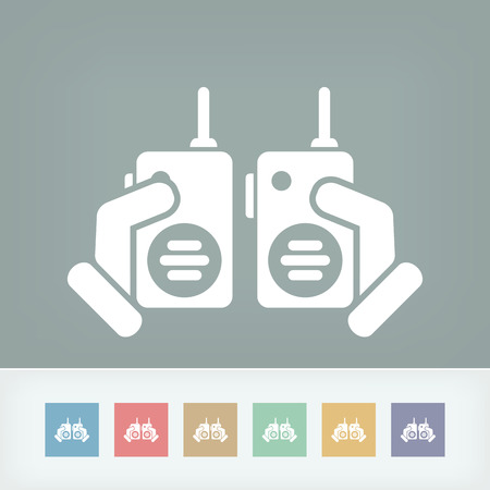 portability: Walkie talkie Illustration