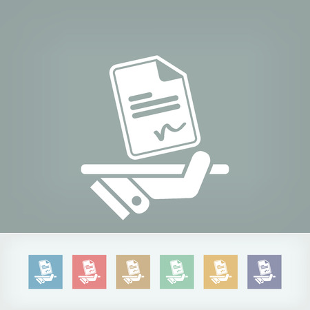 mandate: Sign on document icon