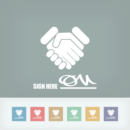 Sign on agreement document Stock Vector - 27151600