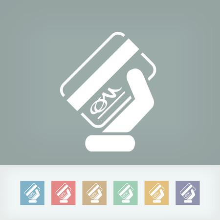 signed: Signed credit card icon Illustration