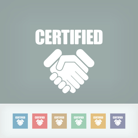 Certified concept icon Stock Vector - 27151604