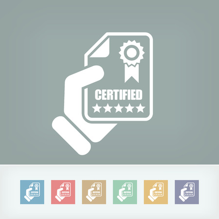 Zertifizierte Dokumentsymbol Vektorgrafik