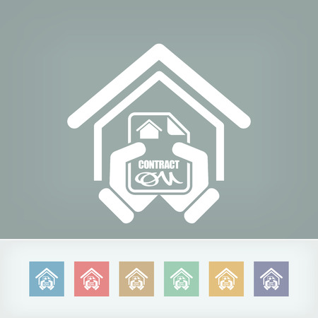 House contract icon Stock Vector - 27151607