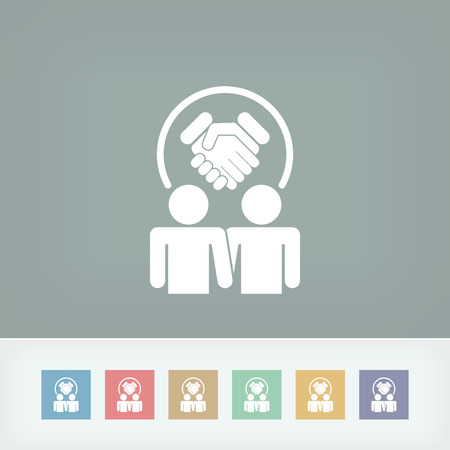 Partnership agreement icon Vector