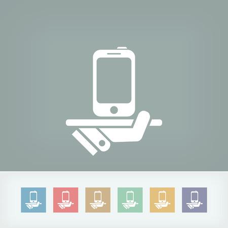 class maintenance: Smartphone service icon Illustration