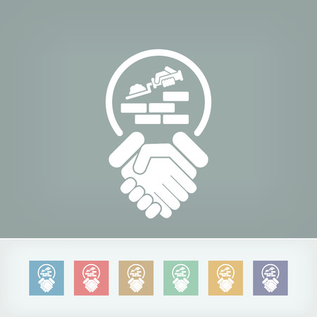hand trowel: Construction agreement icon