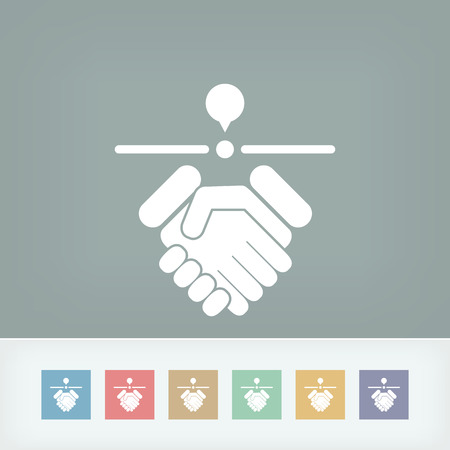 Agreeing location icon Vector