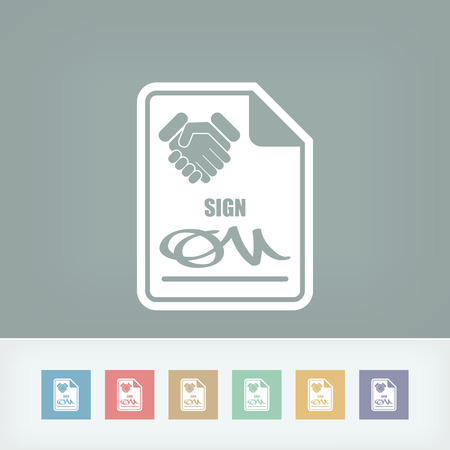Sign on agreement document