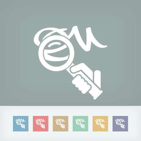 Verification of calligraphy icon Stock Vector - 27151885