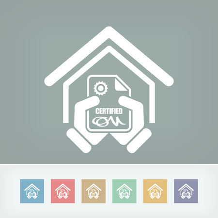 Certified building icon Stock Vector - 27151889