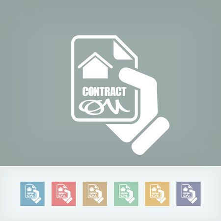 House contract icon Stock Vector - 27151893
