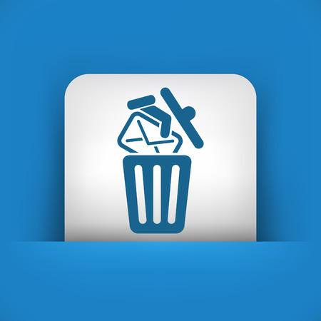 junk mail: Trashing mail Illustration