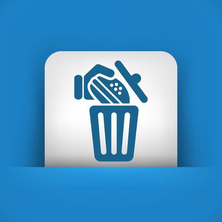 throw away: Trashing a sandwich