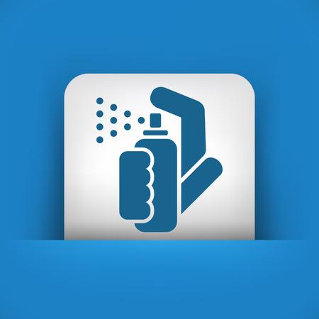 pressure bottle: El icono de pulverizaci�n Vectores