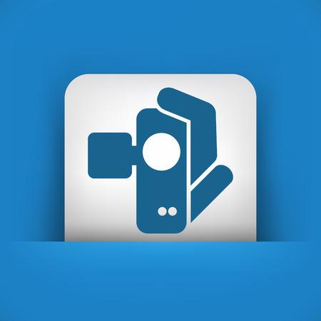 Videocamera icon Stock Vector - 27256220
