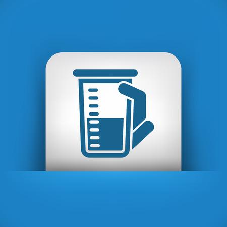 toxic substance: Laboratory beaker