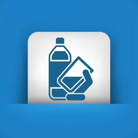 moisturizing: Water bottle icon Illustration