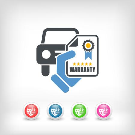Car warranty icon