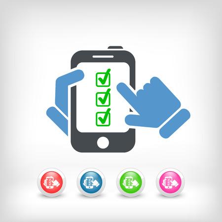confirmed: Checkmark menu on smartphone