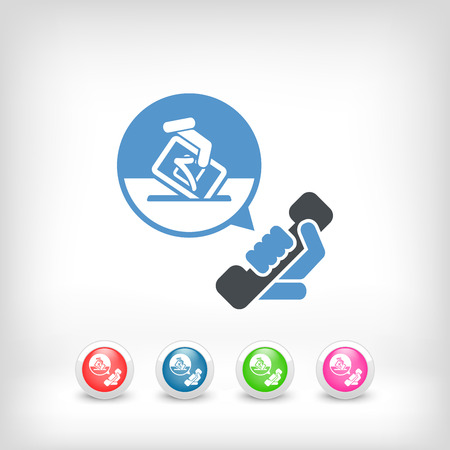 Phone line for elections Vector