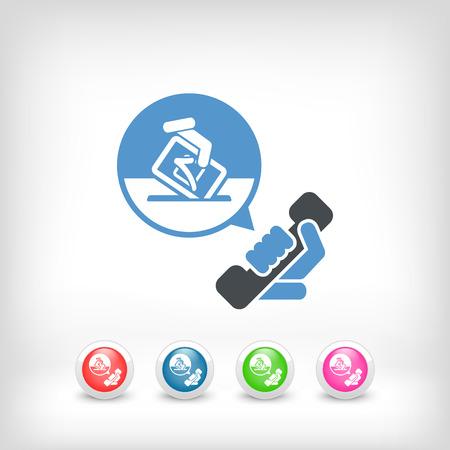 electors: Phone line for elections Illustration