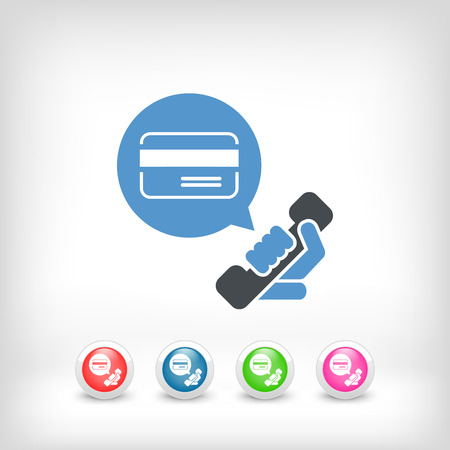 callcenter: Credit card assistance number Illustration