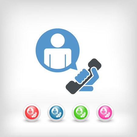 call centers: Contact us icon Illustration