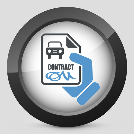 driver license: Car contract icon Illustration
