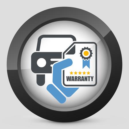 car show: Car warranty icon