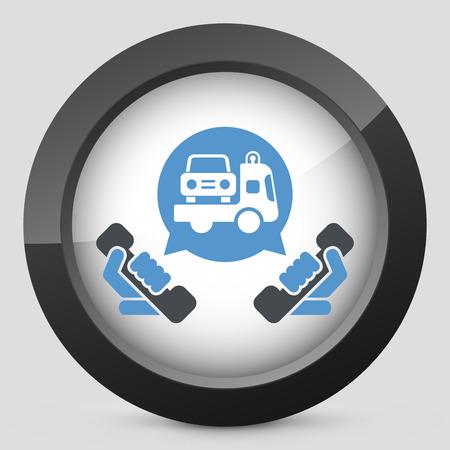 icona: Wrecker call icon Illustration