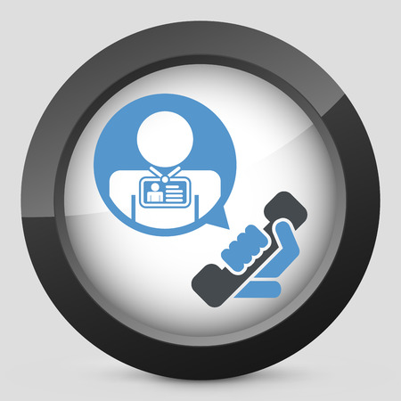 timecard: Contact us icon Illustration