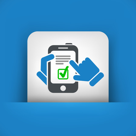Checkmark menu on smartphone Vector