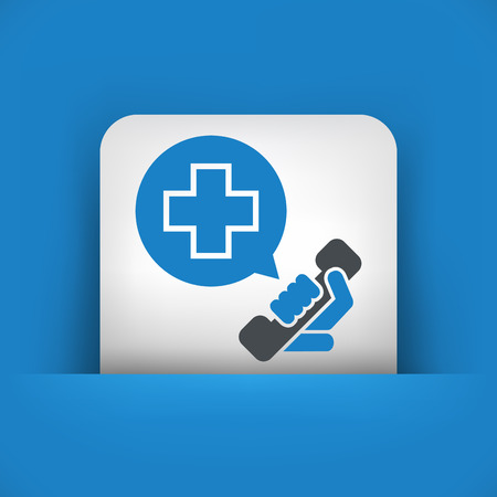 sick malady: Emergency call contact Illustration