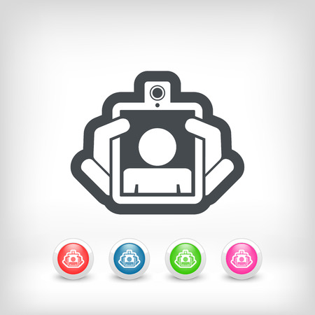Webcam tablet icon Vector