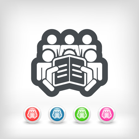 Reader concept icon Stock Vector - 28202117