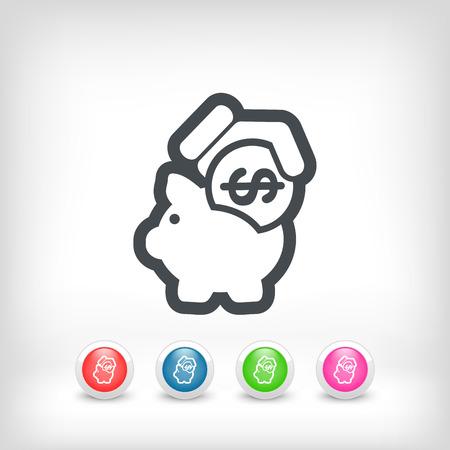 Business coin icon Stock Vector - 28202213