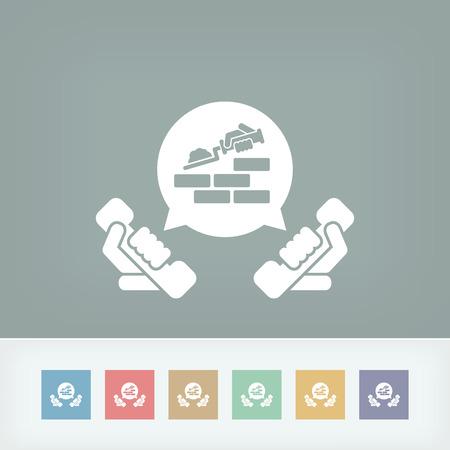 Building company contact icon