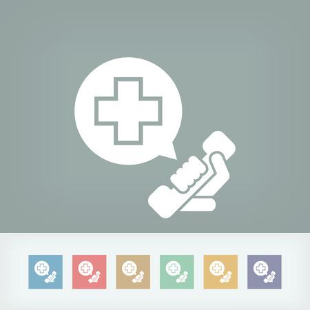 hospitalisation: Appel d'urgence de contact Illustration
