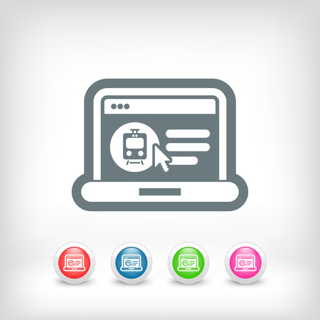 Booking train ticket on internet Vector