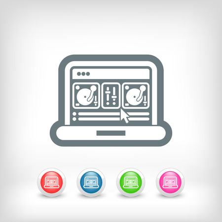 Deejay mixing console icon Vector